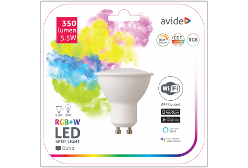 Smart LED GU10 5.5W RGB+W WIFI APP Control